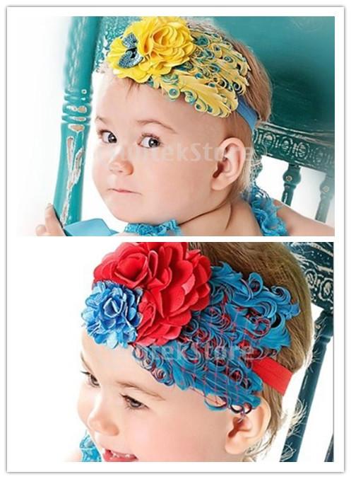 serre t te bandeau cheveux avec une fleur pour enfant b b fille 8 style ebay. Black Bedroom Furniture Sets. Home Design Ideas