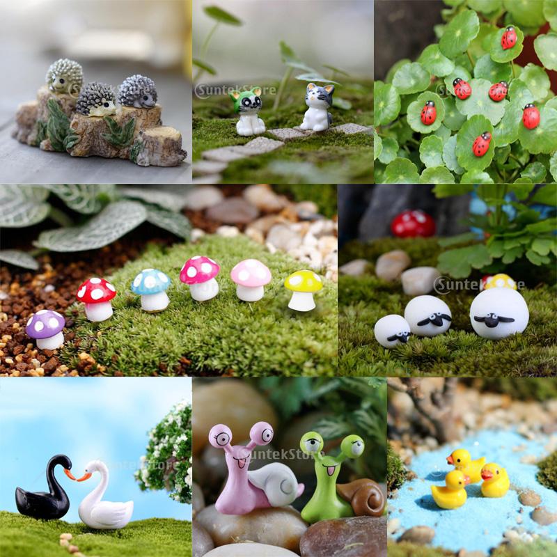 100x Mini Ladybug Dollhouse Garden Bonsai Terrarium Vase