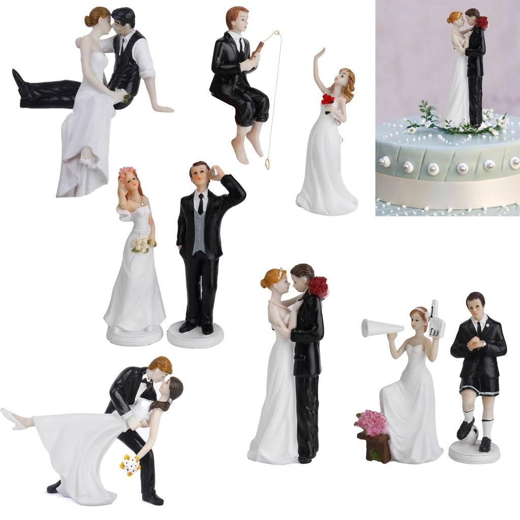 SOCCER Ball Bride Groom Wedding Cake Topper Sport Top Football Funny ...