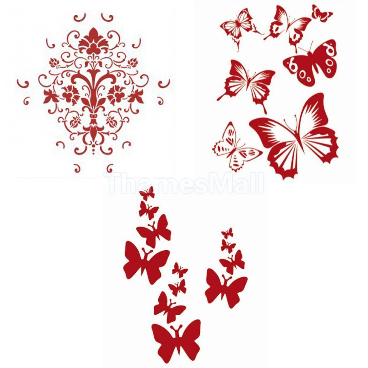 Wall Decoration Art Painting Butterfly Butterflies Pattern Stencil ... for Butterfly Wall Art Stencil  555kxo
